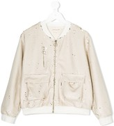 Andorine sequinned bomber jacket
