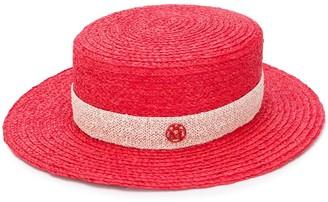 Maison Michel raffia straw canotier hat