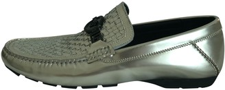 Versace Silver Leather Lace ups