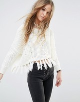 Moon River Fray Detail Sweater