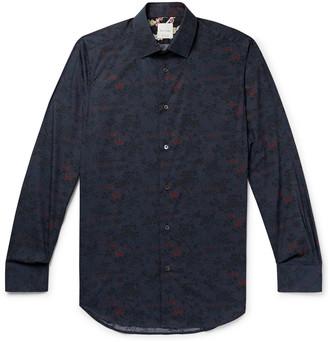 Paul Smith Slim-Fit Floral-Print Cotton-Poplin Shirt