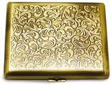 Gifts & More Antique Gold-tone Cigarette and Cards Case (Holds 20)
