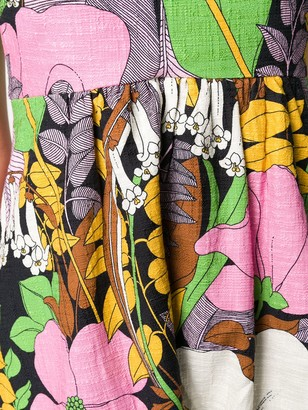 La DoubleJ La Scala feather trim dress