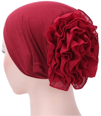 Kalorywee Womens Turban Hats KaloyWee Chemo Headwear for Women India Muslim Ruffle Cancer Turban For Hair Loss Beanie Hat Scarf Turban Head Wrap Cap Multicolor Beanie Hat Bandana Hat Chemo Hair Loss Cap For Womens Ladies Girls