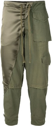 Greg Lauren Drawstring Cargo Trousers