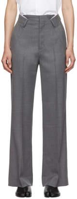 Maison Margiela Grey Folded Waistband Trousers