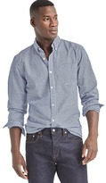Gap Oxford micro gingham slim fit shirt