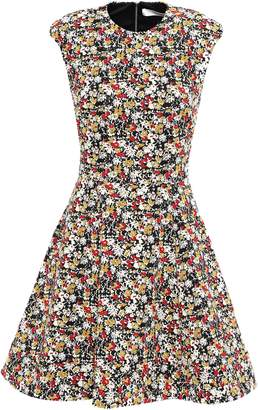 Victoria Beckham Flared Jacquard Mini Dress