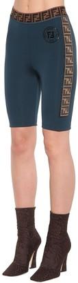 Fendi Lycra Cycling Shorts W/logo Bands