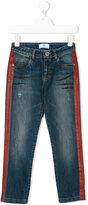 Versace painted stripe jeans