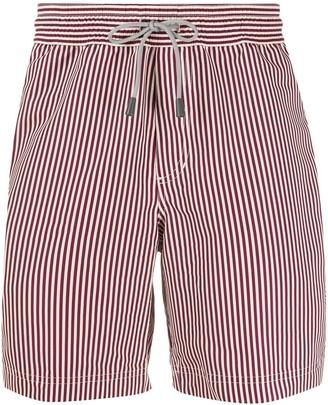Brunello Cucinelli Striped Drawstring Swim Shorts