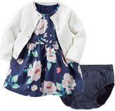 Carter's Baby Girl Floral Dress & Cardigan Set