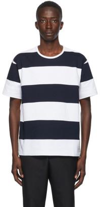 Thom Browne Navy Rugby Stripe Boxy T-Shirt