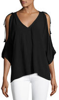 Ella Moss Katella Textured Deep V Tunic Top
