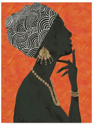 "Emily Adams Graceful Majesty I Orange Canvas Art - 37"" x 49"""