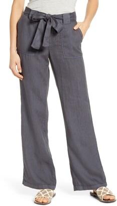Caslon Linen Drawstring Pants