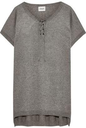 Charli Eclance Lace-up Jersey T-shirt