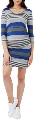 Ripe Striped Nursing Tube Dress Dusty