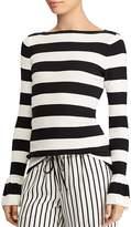 Lauren Ralph Lauren Ruffle Cuff Stripe Sweater