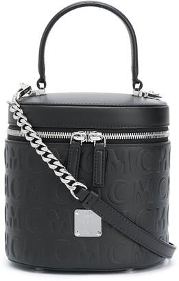 MCM Embossed Logo Tote Bag