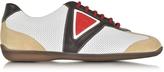 a. testoni A.Testoni Multicolor Leather and Suede Sneaker