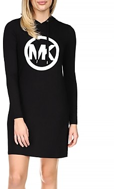 MICHAEL Michael Kors Circle Logo Hoodie Dress