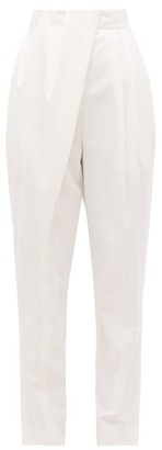 Proenza Schouler Draped-front Pleated Crepe Trousers - Ivory