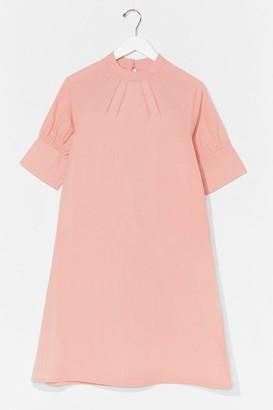 Nasty Gal Womens From Dart to Finish Smock Mini Dress - Peach