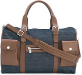 Brunello Cucinelli denim panel holdall