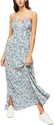 Free People Women's Casual Dresses BLUE - Blue Floral Bon Voyage Maxi Dress - Women