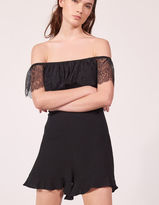 Strapless playsuit with lace