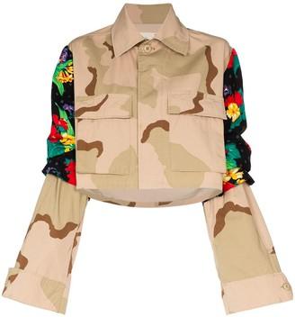 Rentrayage Panelled Camouflage-Print Jacket