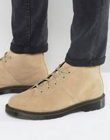 Dr. Martens Church Boots In Beige Suede