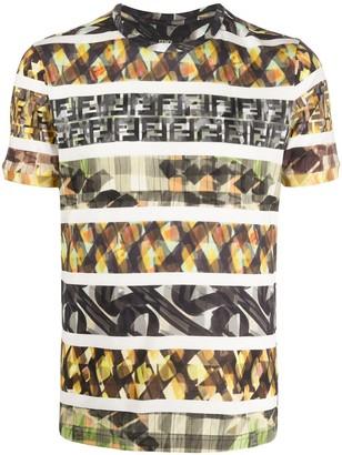 Fendi abstract FF print T-shirt