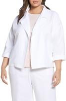 Eileen Fisher Open Front Organic Linen Blend Jacket