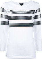 A.P.C. striped sweatshirt - women - Cotton - XS