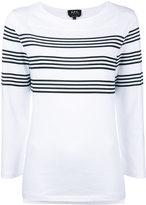 A.P.C. striped sweatshirt