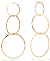 Lana 14k Large 3 Flat-Link Hoop Earrings