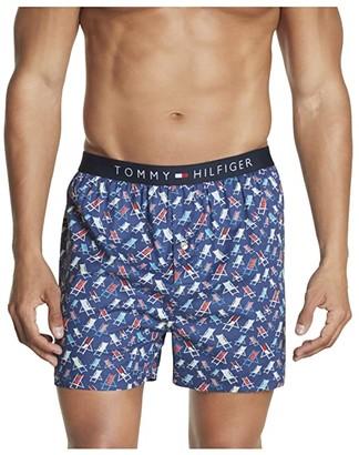 Tommy Hilfiger Single Woven Boxer (Slate Blue) Men's Underwear