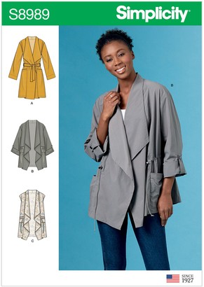Simplicity Misses' Jacket Sewing Pattern, 8989