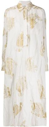 Lanvin Logo Print Shirt Dress