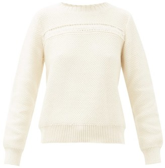A.P.C. Colombe Cotton-blend Sweater - Womens - Ivory