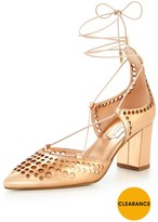 Ted Baker Xarel Caged Block Heel Shoe - Rose Gold