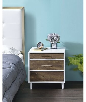 Thumbnail for your product : Corrigan Studio Grillo 3 - Drawer Manufactured Wood Bachelor's Chest in White