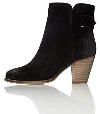 find. Women's Maud Distressed Heeled Ankle Boots Black (38 EU)