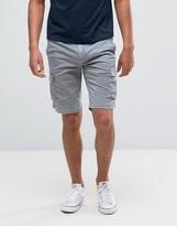 Tommy Hilfiger Denim Cargo Shorts In Alloy Grey