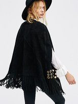 Free People Backstage Suede Cape