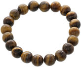 JCPenney FINE JEWELRY Dee Berkley Mens Genuine Tiger's Eye Bead Stretch Bracelet