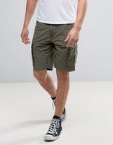 Napapijri Noto Cargo Shorts in Gray Olive