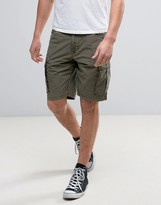 Napapijri Noto Cargo Shorts In Grey Olive